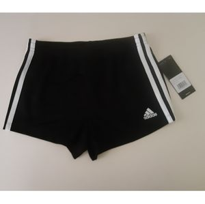 Adidas girls youth core athletic short black/white